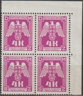54/ Bohemia & Moravia; Service - ** Nr. SL 23 - Corner 4-block - Bohemia & Moravia