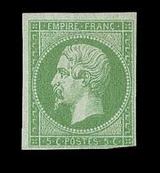 * EMISSIONS GENERALES - * - N°8 - Un Angle Touché - Signé Brun - Belle Présentation - Napoléon III