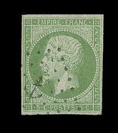 O EMISSIONS GENERALES - O - N°8 - 5c Vert Jaune - Obl. Ancre - TB - Napoléon III