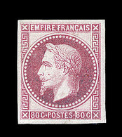 * EMISSIONS GENERALES - * - N°10 - 80c Rose - Gomme Coloniale - TB - Napoléon III