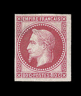 * EMISSIONS GENERALES - * - N°10 - 80c Rose - Gomme Partielle - Signé BRUN - TB - Napoléon III