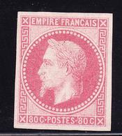 (*) EMISSIONS GENERALES - (*) - N°10 - 80c Rose - Signé Calves - TB - Napoléon III