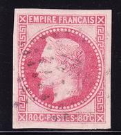 O EMISSIONS GENERALES - O - N°10 - 80c Rose - TB/SUP - Napoléon III