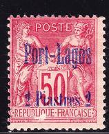 * PORT LAGOS - * - N°5 - 2pi S/50c - Lég. Pelurage - Puerto Lagos (1893-1931)