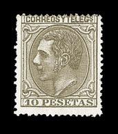 * ESPAGNE - * - N°192 - 10p. Brun Olive - Pli Vertical - 1875-1882 Regno: Alfonso XII