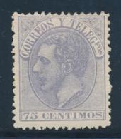 * ESPAGNE - * - N°195 - 75c Violet - TB - 1875-1882 Regno: Alfonso XII
