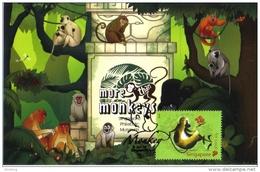 30D:Carte Maximum Chinese New Year Of Monkey 2 Maximum Card,Maxicard,MC - Monkeys