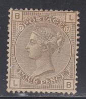 (*) GRANDE BRETAGNE - (*)  - N°59 - 4p Vert Olive - TB - 1840-1901 (Viktoria)