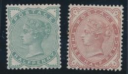 * GRANDE BRETAGNE - * - N°67, 69 - TB - 1840-1901 (Viktoria)