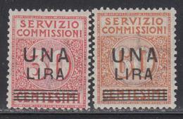* ITALIE - SERVICE - * - N°12/13 - 2 Valeurs - TB - 1861-78 Vittorio Emanuele II