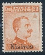 ** ILES MER EGEE / NISIROS - ** - N°9 - 20c Orange - TB - Aegean (Nisiro)