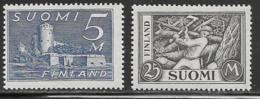 Finland Scott # 177,179 Mint Hinged Castle, Woodchopper, 1930 - Unused Stamps