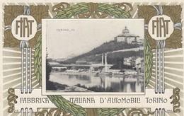 TORINO -FIAT-FABBRICA ITALIANA AUTOMOBILI TORINO-CARTOLINA LITHO- NON VIAGGIATA -ANNO 1906 - Mostre, Esposizioni