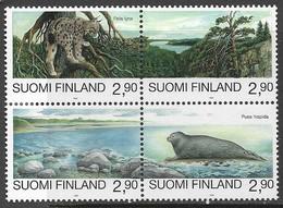 Finland  1995  Sc#960  Endangered Species Block/set  MNH  2016 Scott Value $7 - Unused Stamps