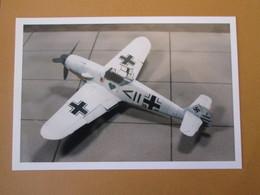 CAGI3 Format Carte Postale Env 15x10cm : SUPERBE (TIRAGE UNIQUE) PHOTO MAQUETTE PLASTIQUE 1/48e Me-109G CAMO HIVERNAL - Avions