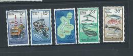 New Zealand 1978 Ocean Resources Set 5 MNH - Nueva Zelanda