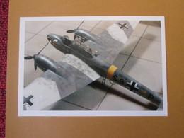 """CAGI3 Format Carte Postale Env 15x10cm : SUPERBE (TIRAGE UNIQUE) PHOTO MAQUETTE PLASTIQUE 1/48e Me 110 """"WESPE"""" - Avions"""