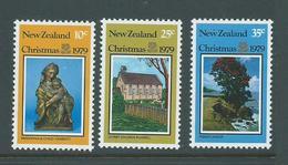 New Zealand 1979 Christmas Set Of 3 MNH - Nueva Zelanda