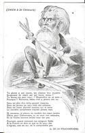 POLITIQUE    DESSIN    DEDIE A LA CENSURE TEXTE  G. DE LA FOUCHARDIERE - Humoristiques