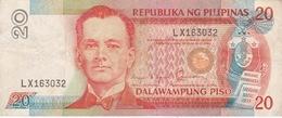 Philippines - Billet De 20 Piso - Manuel Luis Quezon - Non Daté (1986-94) - P170b - Filippijnen
