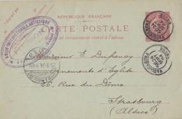 MEUSE ENTIER CP SEMEUSE LIGNEE 10C 1904 T18 TARDIF DE VAUCOULEURS => ALSACE - Marcophilie (Lettres)