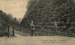 54 BRIEY BAHNSTRECKE BEI BRIEY  DEUTSCHE LANDWEHR IN FEINDESLAND FELDPOST  14/15 WWI WWICOLLECTION - Briey