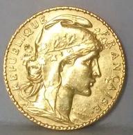FRANCIA MARENGO FRANCESE 20 Franchi 1910 Moneta In Oro - Gold