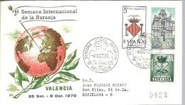 POSTMARKET   1970 España  VALENCIA  REGISTERED - Pipistrelli