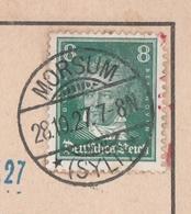 Deutsches Reich Karte Mit Tagesstempel Morsum Sylt 1927 Lk Nordfriesland - Deutschland