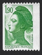 FRANCE VARIÉTÉ LIBERTÉ DE GANDON N° 2426 1/2 BANDE DE PHOSPHORE A GAUCHE ET 1/2 A DROITE - 1982-90 Liberté De Gandon