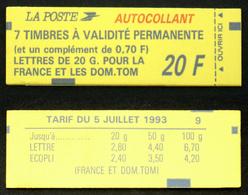 CARNET 1503c TB Cote 41€ Contenant Le 2824 Bande Du 70c Sur Bande Supérieure - Usage Courant