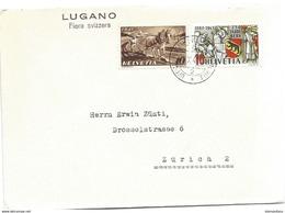 "123 - 73 - Enveloppe Avec Oblit Spéciale ""Lugano Fiera Svizzera"" 1941 - Polar Ships & Icebreakers"