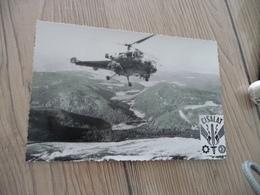 Carte Photo Militaire Militaria 1964 Hélicoptère Groupement Cisalat - Materiale