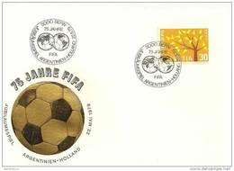 """190 - 53 - Enveloppe Suisse Obit Spécaile """"75ème Anniv De La Fifa 1979 Bern - Match Argentine-Pay-Bas"""" - Football"""