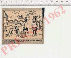 Presse 1963 Humour Chirurgie Esthétique Du Nez Appendice Nasal Moyen-âge Bourreau Exécution à La Hache Sur Billot 229ZA - Vieux Papiers
