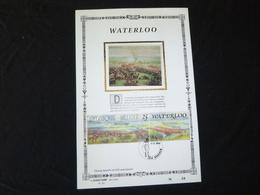 """BELG.1990 2376 : """" WATERLOO """" NL.Luxe Kunstbladen Zijde , 200 Exemplaren Limiet - FDC"""