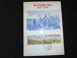 """BELG.1990 2376 : """" WATERLOO """"  FILATELIC CARD - FDC"""