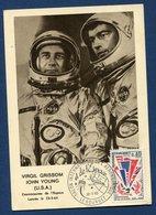 France - Carte Maximum - Virgil Grissom - John Young - Cosmonautes De L'espace - 1965 - 1960-69