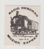 Sticker Radio/TV: Radio Deborah Muziek Expres (stoomtrein) - Aufkleber