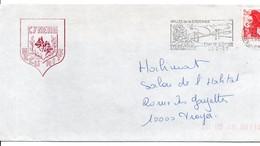 Marmande 1987 - Flamme Vallée De La Garonne Avec Pont Suspendu & Pays De La Tomate - Chien Berger - Poststempel (Briefe)