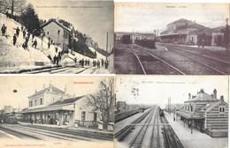 Lot N° 109 De 20 Cartes De Gares De France: Avec Et Sans Train, Intérieur, Extérieur - Cartes Postales