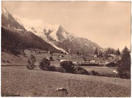 Vallée De CHAMONIX - Le Lavancher Et Le Mont Blanc - (Photo 24cm X 18cm) - Chamonix-Mont-Blanc