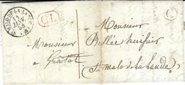 1858- Lettre De ST-MALO-DE-LA-LANDE ( Manche ) Cad T15  + C L Rouge + C Boite Rurale De Les Tutérets - Postmark Collection (Covers)