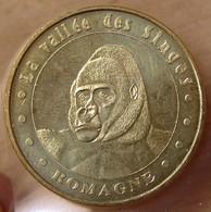 Jeton Touristique (86 VIENNE ) Romagne - La Vallée Des Singes 2007 Gorille - Monnaie De Paris