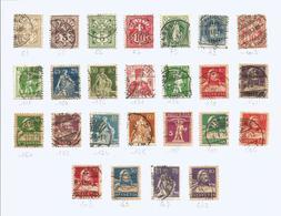 SUISSE 1 Lot De 25 Timbres Oblitérés 1882 à1930 - Briefmarken