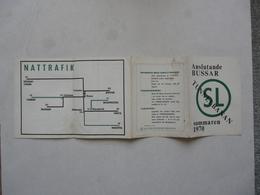 TUNNELBANAN STOCKHOLMS PULSADER - ANSLUTANDE BUSSAR - Europe