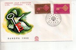 REF X22 : Enveloppe 1er Jour First Day Cover FDC Europa 1968 - Non Classificati