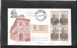 Italia 1957, Carducci Fdc In Blocco Di 4 (ref 4006) - F.D.C.