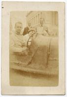 Voiture Sportive Décapotable Avec Pilote Dedans At Madame. Tirage Original D'époque. C 1925 FG0770 - Automobiles