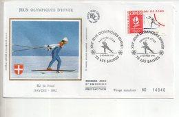 REF X22 : Enveloppe 1er Jour First Day Cover FDC Albertville 92 Ski De Fond Les Saisies - Non Classificati
